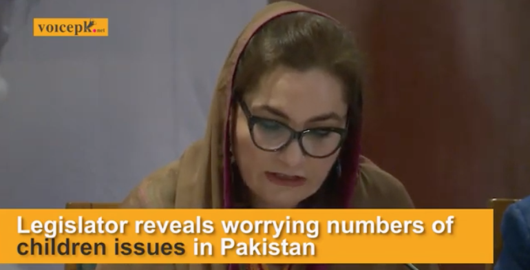 MNA Mehnaz Akbar shares worrying data on children issues.