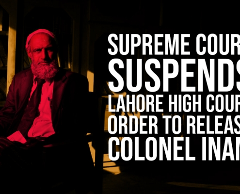 Supreme Court Suspends Lahore High Court Order to Release Colonel Inam