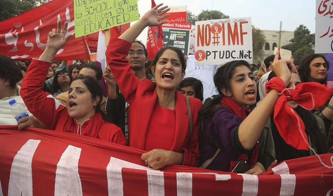 Women united under one banner at the Student Solidarity March, Lahore