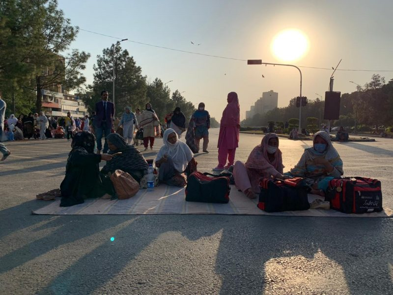 From sunrise till sunset, the women braved the elements for seven days straight before the government finally capitulated to their demands